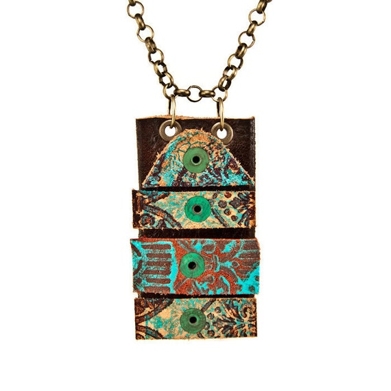 necklace with pendant edgy jewelry boho necklace