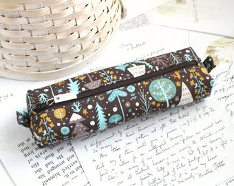 Forest Pencil Case Boxy Pouch Back to School Zipper Pouch Woodland