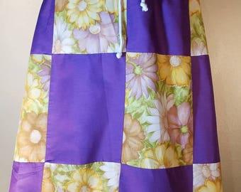 Purple Patchwork Hippie Skirt