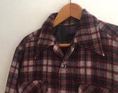 Pendleton Wool Plaid Shirt // Vintage // sm/m