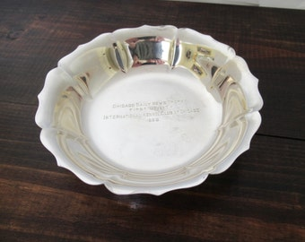 Sterling Bowl 1956 Chicago Daily News Trophy International Kennel Club, Spaulding and Co Dublin Sterling SIlver Bonbon Bowl Candy Bowl