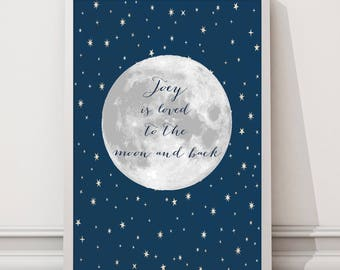 Personalized to the Moon Digital wall art print