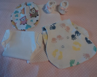 5pc. Infant Diaper set for Bitty Baby Doll, with booties