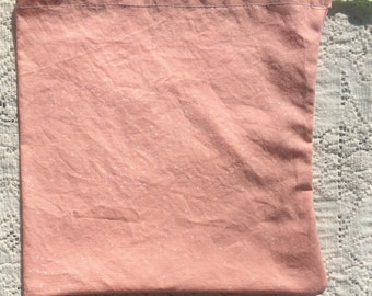 Bag, Drawstring, Knitting, Lunch, Produce, Art Supplies, Toys, Baby Pink Project Bag
