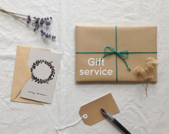 Gift service add-on: gift wrap and send
