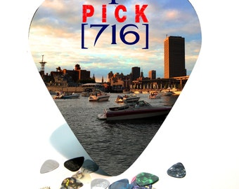 Giant / HUGE Guitar Pick Wall Art - Buffalo NY 716 - Made in the USA