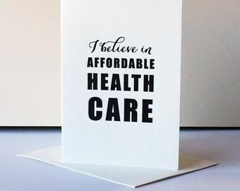 Letterpress Protest Card - Health Care