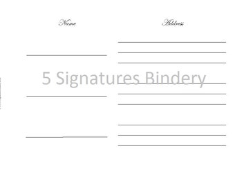 Guest Book Registry Page - Customized Digital Copy Printable