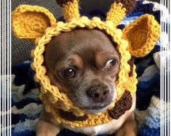 Giraffe Dog Snood Crochet