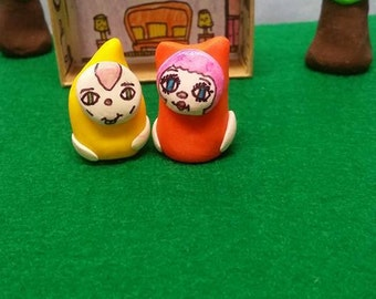 little Weirdlings,toy set,miniature,clay,monsters,cat,gnome,travel size,kids,figurines,easter