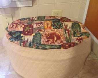 Wilderness Oval Quilted Kitchen Crock Pot Small Appliance Cover Ready to ship next business day