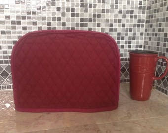 Burgundy 2 Slice Toaster Cover Ready to Ship Next Business Day