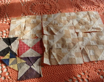 Antique ~ Vintage 1890 - 1910 quilt blocks squares for the smaller projects