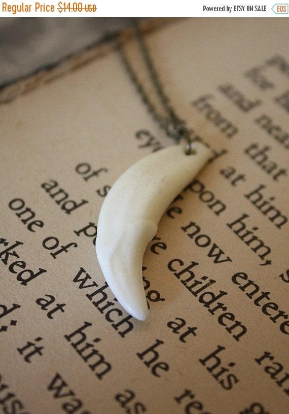 ON SALE Werewolf Tooth Necklace