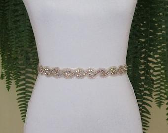 Aurora AB Crystal Rhinestone Bridal Sash,Wedding sash,Belts And Sashes,Bridal Accessories,Bridal Belt,Style #32