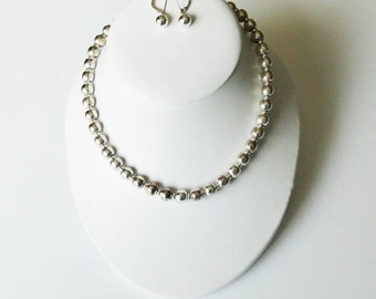 Sterling Silver Necklace Earrings Three 3 Item Set