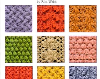 50 Fabulous Knit Stitches Cables Bobbles Shells Lace Diamonds Flowers Vines Leaves Craft Pattern Book Leisure Arts 4280