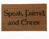 Tolkien - Speak, Friend, and Enter- doormat geek nerd outdoor