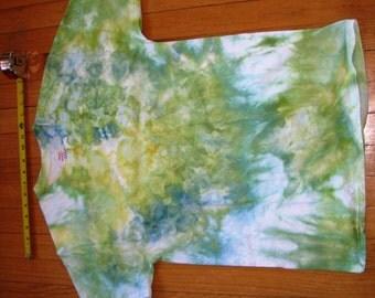 T-SHIRT ADULT MEDIUM Tiedye Hanes Yellow Green Blue White