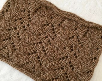Hand Knit Cowl, Beautiful Design, Touch of Sparkle