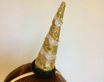 Gold Unicorn horn, Unicorn headband.