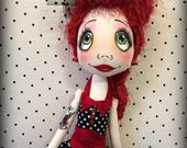 Urchin Rockabilly 'Rita' art doll