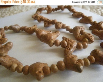 SALE Clay Birds Necklace Natural ExoticTribal 27 Birds