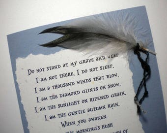 Mixed Media Sympathy Card - Native American inspired with the HOPI PRAYER