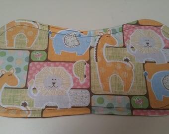 Soft Colors Animal Print Burp Cloth