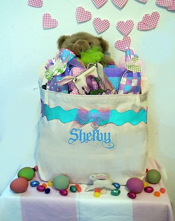 Personalized Easter Basket, Easter Bucket, unique easter container, childrens easter baskets, easter bin, toy storage, kids easter basket