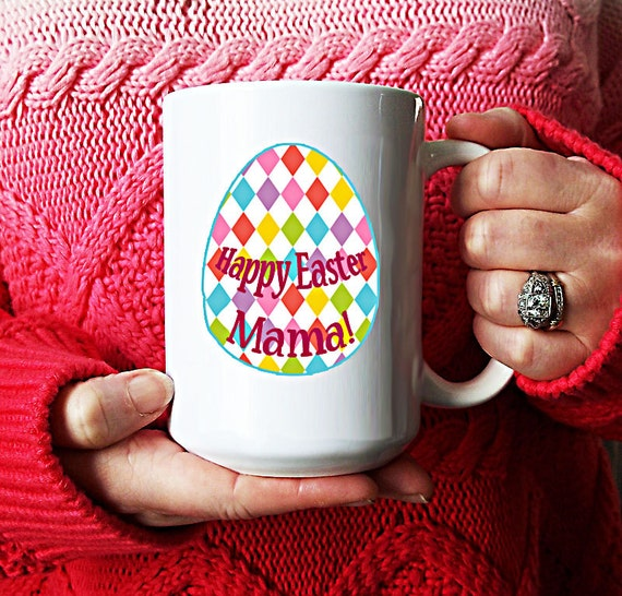 Easter Coffee Mug, Happy Easter Momma, large coffee mug, Easter Gift, Teacher Gift, Easter Decor