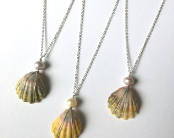 Sunrise Shell Necklace, FREE Shipping, Sunrise Shell Jewelry, Sunrise Shell, Sterling Silver, Made In Hawaii, Hawaii, Simply Sparkle Designs