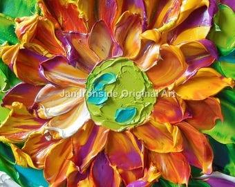 Floral painting, Oil painting ,  flowers , original painting , fine art,
