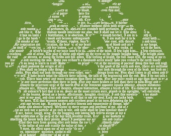 Walt Whitman - Men's T-Shirt - White on Green (Griot Apparel)