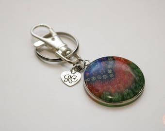 Millefiori Keyring/ Bag chain/ Key chain.