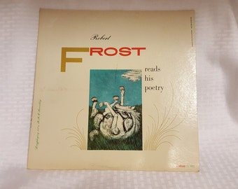 Robert Frost Reads His Poetry LP Record © 1957