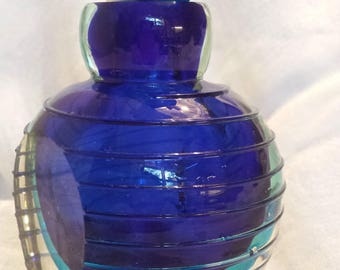 Clear and Blue Perfume Bottle