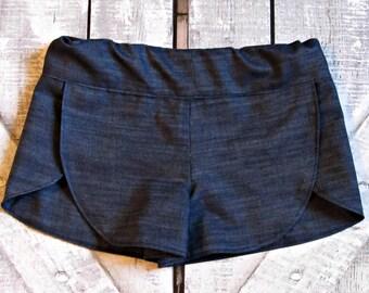 Girls Custom Tulip Shorts- Denim Blue- Summer Shorts- Beach Shorts- Toddler Shorts- Tween Shorts- Sizes 2T 3T 4T 5 6 7 8 10