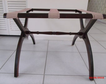 Vintage Wood Folding Luggage Rack Guest Room Traditional Decor