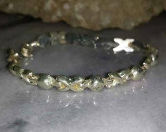 Vintage Sterling Silver Link Bracelet XOXO / 1970s Sterling Silver Link  Bracelet Hugs \u0026 Kisses