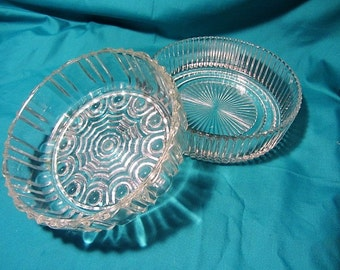 2 Glass Serving Dishes, Holiday Glass Serving Bowls, Display Dishes, Glass Bowls, Veggie Dishes, Holiday Serving Dishes, Table Serving Bowls