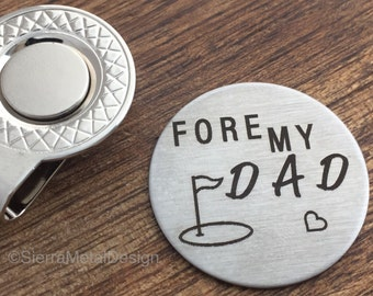 Fore My Dad Golf Ball Marker Golfing Gift Mens Gift Dad Gift Golfer Gift Golf For Him Husband Gift Guy Gift Daddy Valentines