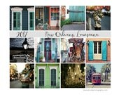 Clearance - 2017 Desk Calendar, New Orleans Gift, Louisiana Travel Photography, 5x7 Loose Leaf Calendar, For Him, Gift Under 25