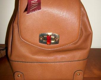 New Merona  Faux  Leather  backpack Boho   purse rucksack