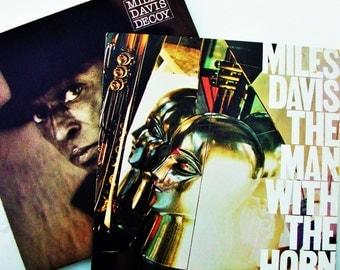 2 Miles Davis Vinyl Records, 1983 Decoy NM/EX & 1981 The Man With the HornEX/EX Cool Jazz Funk Trumpet Player Hip Hop Music History Musician