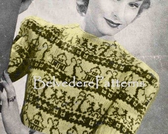 1940's vintage knitting pattern - Willow