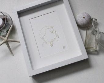 Handmade Sea Glass Art / Baby Art / Baby Shower / Nursery Art / Minimal Art / Baby Gift / Toddler Gift / Pacifier / Soother / Soo-Soo