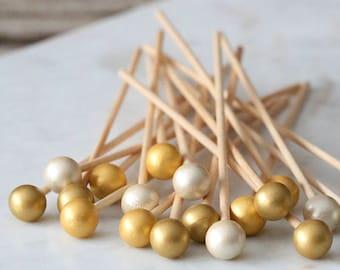 Gold Ombre Lollipop Sticks, Gold Cake Pops Sticks, Boho Party Cake Pops, Wedding Cake Pop Sticks, Rock Candy Sticks, Gold Appetizer Picks
