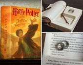 """Hollow Book Safe Ring Bearer (Harry Potter and The Deathly Hallows with """"Always"""" Quote)"""