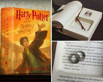 "Hollow Book Safe Ring Bearer (Harry Potter and The Deathly Hallows with ""Always"" Quote)"